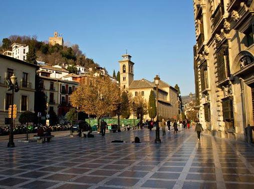 El centro de Granada